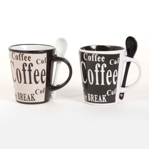 Mr. Coffee Bareggio 8-pc. Coffee Mug & Spoon Set