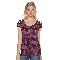 Women's Rock & Republic® Slashed Tie-Dye Shirt