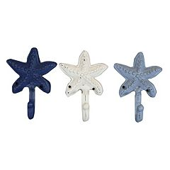 Belle Maison Starfish Wall Hook 3-piece Set