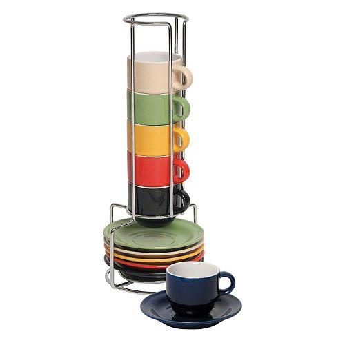 Gibson Home Sensations 13-pc. Espresso Coffee Mug Set with Caddy