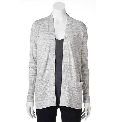 Women's SONOMA Goods for Life™ Solid Ribbed Trim Cardigan