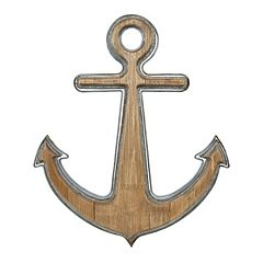 Belle Maison Wood & Iron Anchor Wall Decor