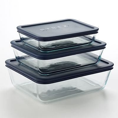 Pyrex 6-pc. Rectangular Storage Plus Set