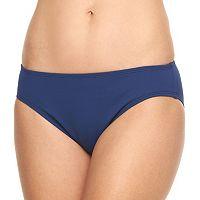 Women's Chaps Solid Hipster Bikini Bottoms
