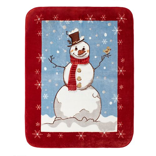 Hi Pile Luxury Oversize Snowman Throw