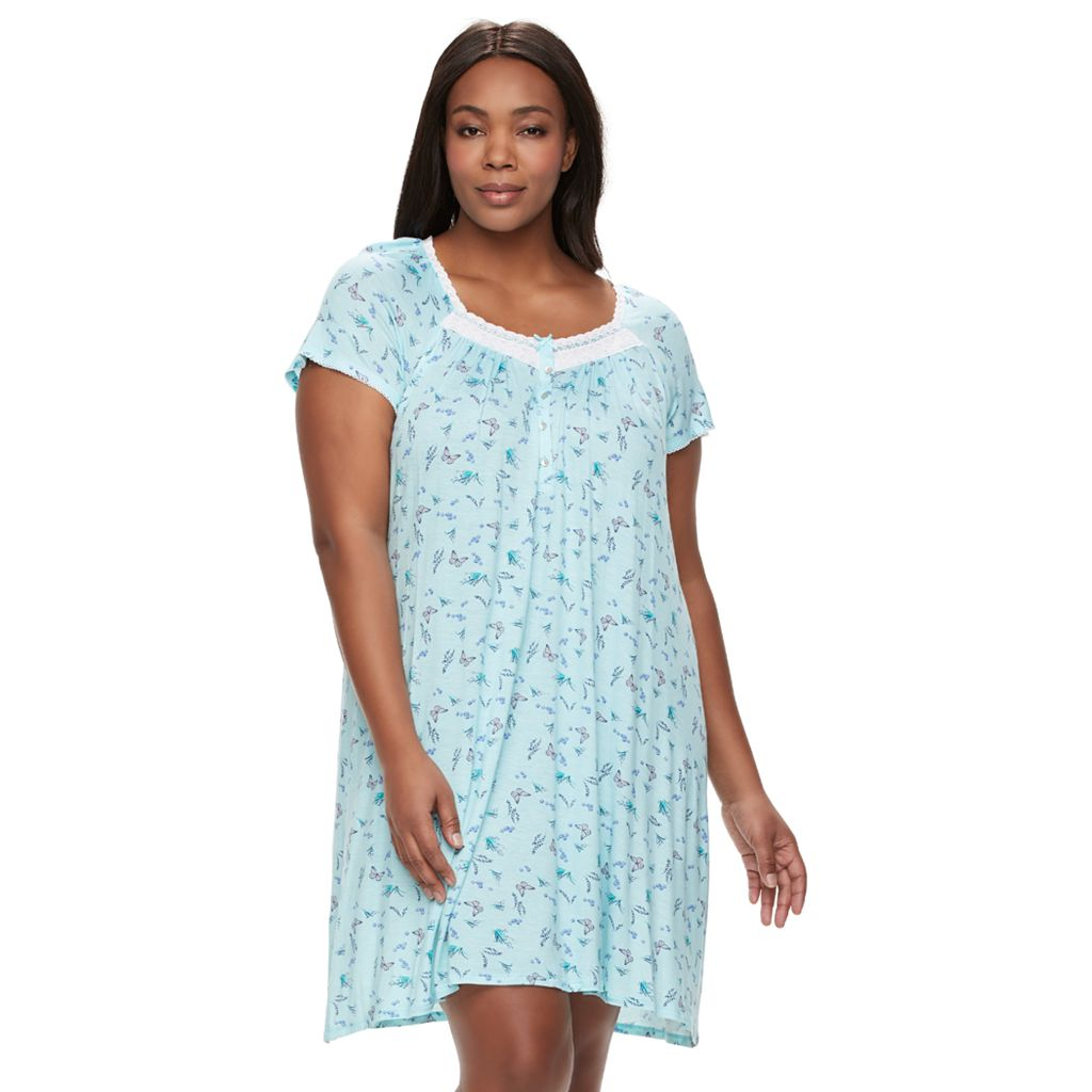 Plus Size Croft & Barrow® Pajamas: Soft Meadows Embroidered Nightgown