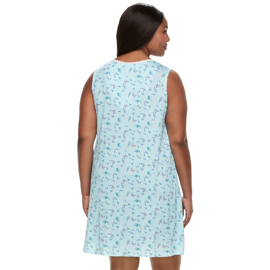 Plus Size Croft & Barrow® Pajamas: Soft Meadows Nightgown