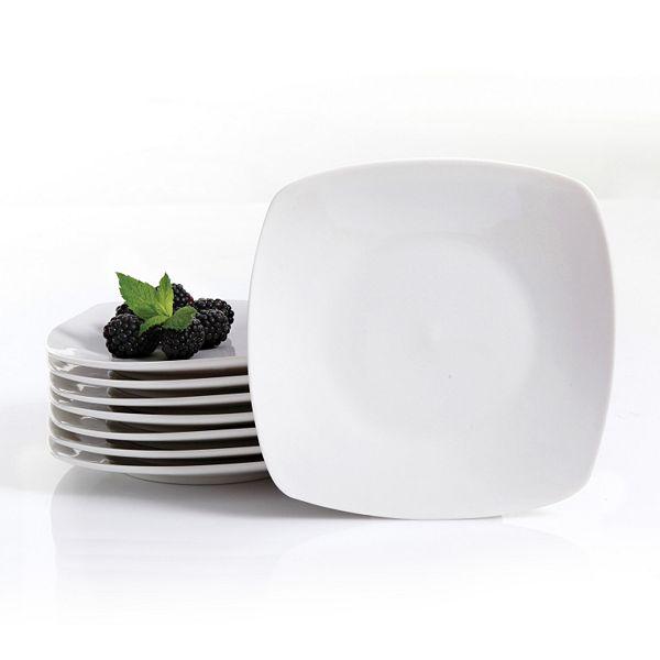 Gibson Home Zen Buffetware 8 Pc Square Salad Plate Set