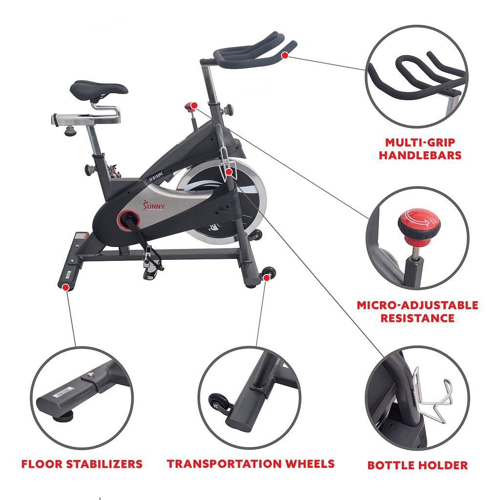 Sunny Health & Fitness Chain Drive Premium Indoor Cycling Bike (SF-B1509C)