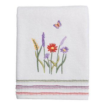 Rainbow Garden Bath Towel