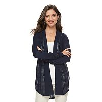 Women's Croft & Barrow® Pointelle Cardigan