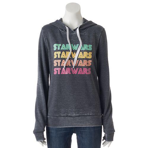Juniors' Star Wars Colorful Logo Graphic Hoodie