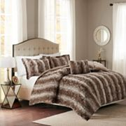 Madison Park Marselle Faux Fur Duvet Set