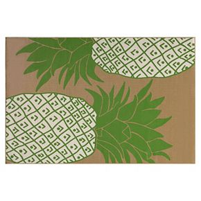 SONOMA Goods for Life™ Large Pineapple Indoor Outdoor Rug | null