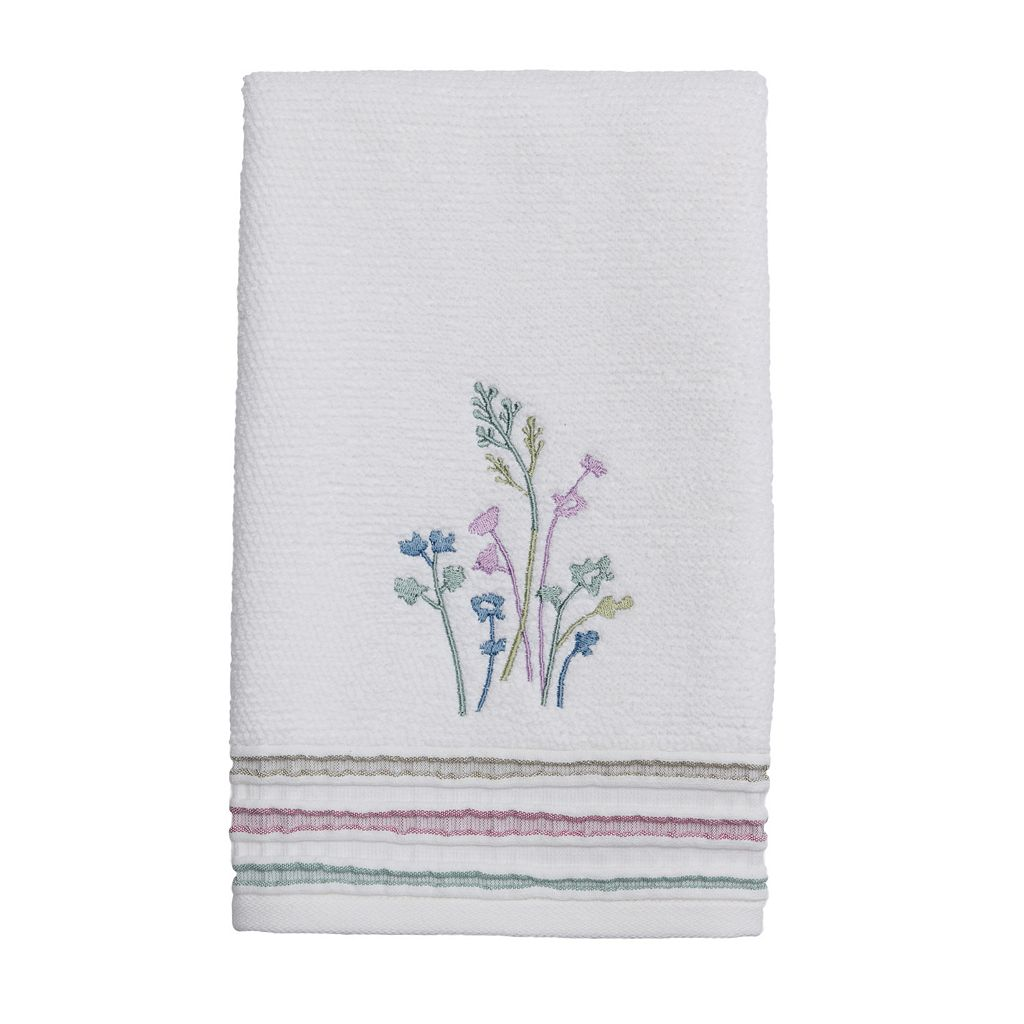 Ombre Leaves Hand Towel