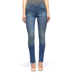 Women's Rock & Republic® Berlin Midrise Slit Skinny Jeans