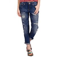 Juniors' Unionbay Margot Ripped Boyfriend Jeans