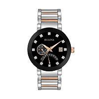 Bulova Men's Diamond Two-Tone Stainless Steel Watch - 98D129