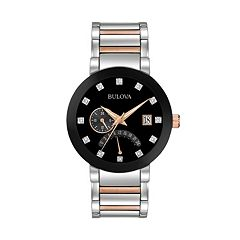 Bulova Men's Diamond Two-Tone Stainless Steel Watch - 98D129