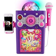 Shopkins Flashing Disco Ball Karaoke Machine