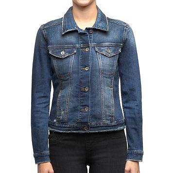 Women's Rock & Republic® Destructed Jean Jacket