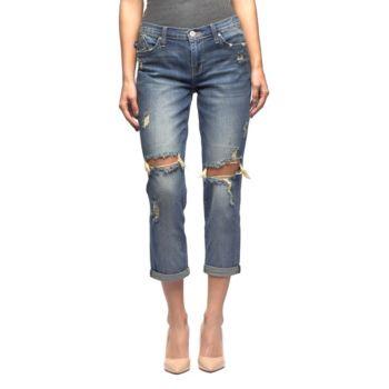 Women's Rock & Republic®® Indee Ripped Slim-Fit Boyfriend Jeans