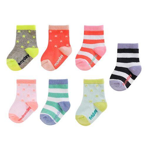 Girls 4-8 OshKosh B'gosh® 7-pk. Day of the Week Socks