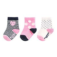 Girls 4-8 OshKosh B'gosh® 3-pk. Print Crew Socks
