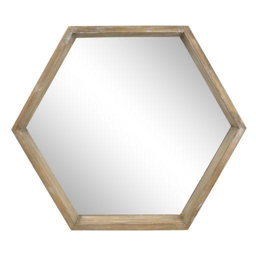 Belle Maison Farmhouse Hexagon Wall Mirror