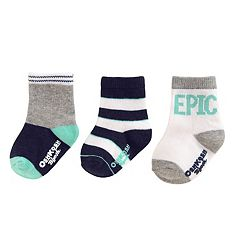 Boys 4-8 OshKosh B'gosh® 3 pkPrint Crew Socks
