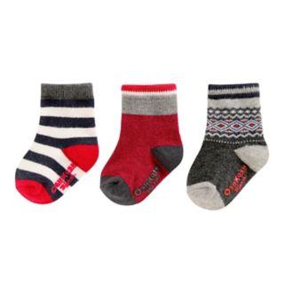 Boys 4-8 OshKosh B'gosh® 3-pk. Print Crew Socks