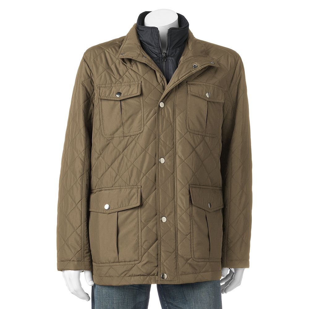 Big Tall Tower By London Fog Quilted Field Coat