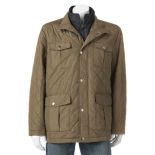Big & Tall Tower by London Fog Quilted Field Coat