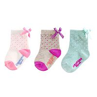 Girls 4-8 OshKosh B'gosh® 3 pkPrint Bow Socks
