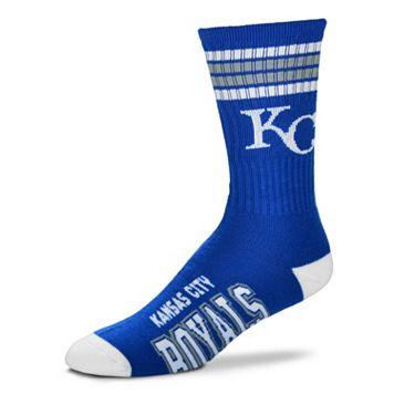 Men's For Bare Feet Kansas City Royals Deuce Striped Crew Socks