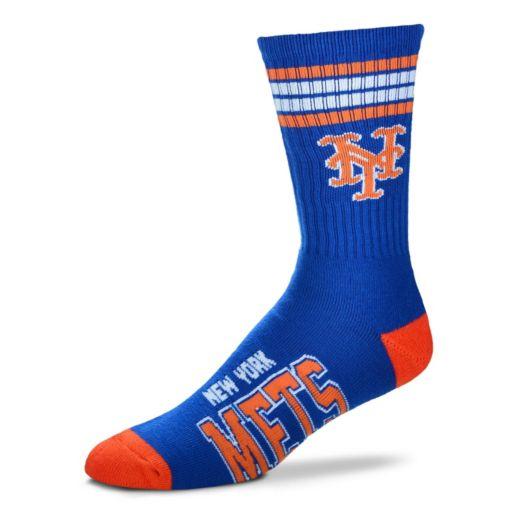 Men's For Bare Feet New York Mets Deuce Striped Crew Socks