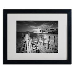 Trademark Fine Art Reach Black Framed Wall Art