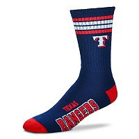 Men's For Bare Feet Texas Rangers Deuce Striped Crew Socks