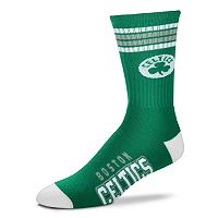Men's For Bare Feet Boston Celtics Deuce Striped Crew Socks