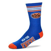 Men's For Bare Feet New York Knicks Deuce Striped Crew Socks