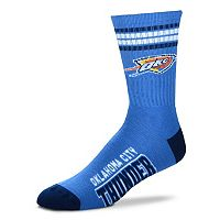 Men's For Bare Feet Oklahoma City Thunder Deuce Striped Crew Socks