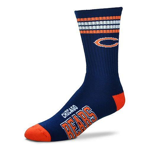 Men's For Bare Feet Chicago Bears Deuce Striped Crew Socks