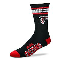 Men's For Bare Feet Atlanta Falcons Deuce Striped Crew Socks