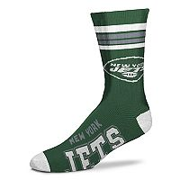 Men's For Bare Feet New York Jets Deuce Striped Crew Socks