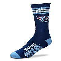 Men's For Bare Feet Tennessee Titans Deuce Striped Crew Socks