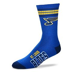 Men's For Bare Feet St. Louis Blues Deuce Striped Crew Socks