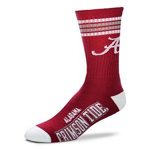 Men's For Bare Feet Alabama Crimson Tide Deuce Striped Crew Socks