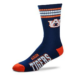 Men's For Bare Feet Auburn Tigers Deuce Striped Crew Socks
