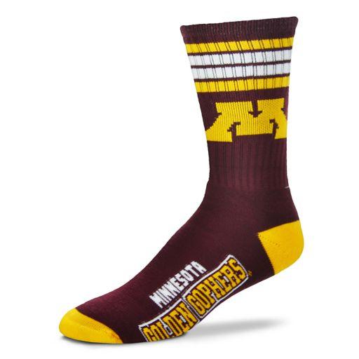 Men's For Bare Feet Minnesota Golden Gophers Deuce Striped Crew Socks