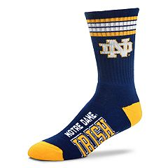 Men's For Bare Feet Notre Dame Fighting Irish Deuce Striped Crew Socks